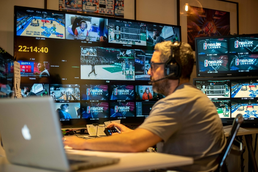 COVID-19, Sports, Production, Esports, IP, NBA league, Remote production, Live feed, Pandemic