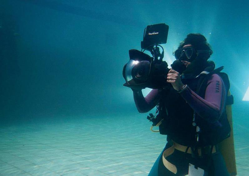 Priya Seth shooting underwater
