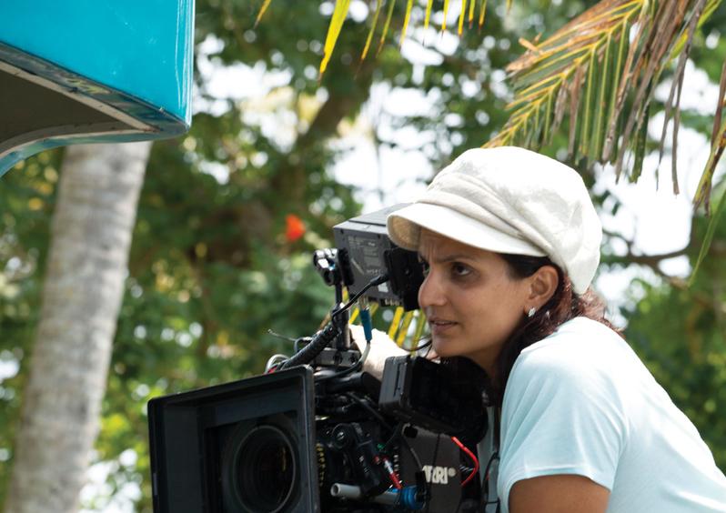 Priya Seth, engrossed in her art