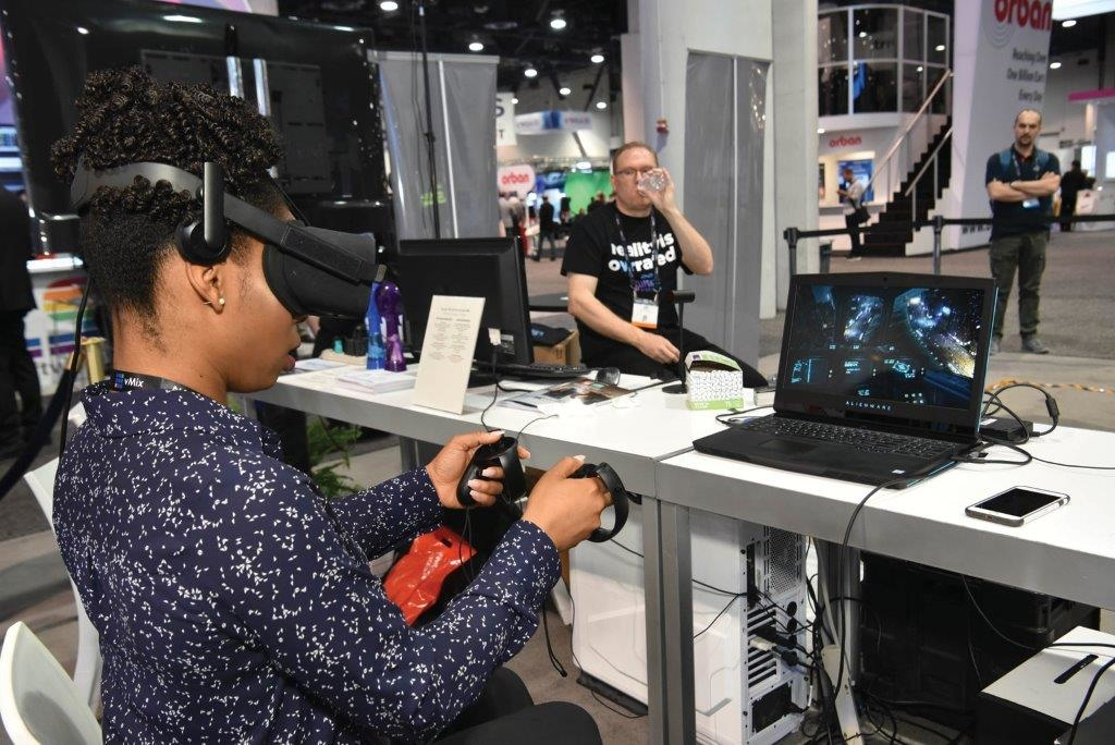 Attendee at the Game Developer's Gallery, at NAB Show 2018