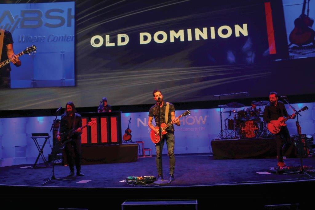 We are Broadcasters celebration - performance by Old Dominion, at NAB Show 2018